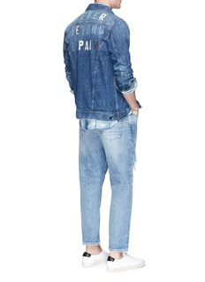 Denham 'Amsterdam' faded patch denim jacket