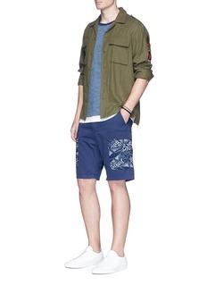 Denham'Nato' Katagami panel twill shorts