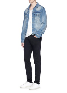 J Brand 'Tyler Taper' stretch raw jeans