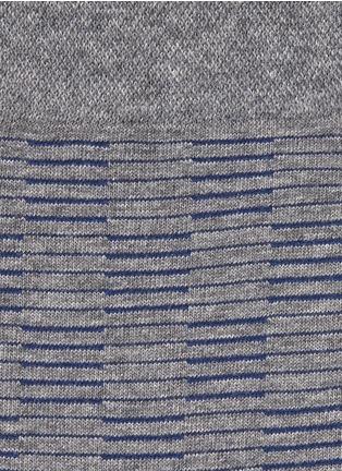 FALKE-'Sensitive' stripe check crew socks
