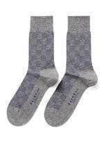 'Sensitive' stripe check crew socks