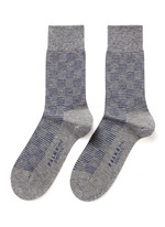 SENSITIVE条纹格纹袜子