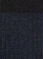 SHADOW拼色条纹袜子