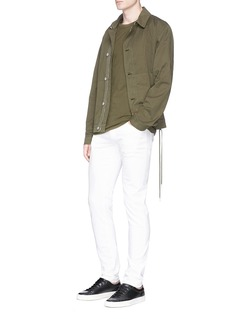 Helmut Lang Outseam lace twill jacket