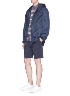 Theory 'Rammy' check plaid linen-cotton shirt