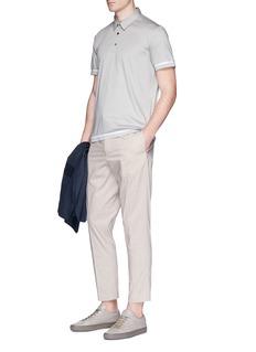 Theory Contrast stripe jersey polo shirt