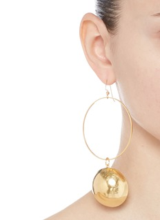 MOUNSER 'Lunar' 14k gold plated mismatched earrings