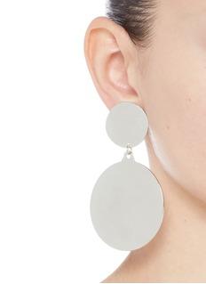MOUNSER Irregular coin charm clip earrings