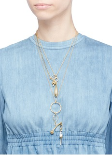 MOUNSER 'Micro Kinesis' two-in-one pendant necklace