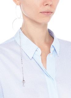 MOUNSER 'Eclipse' ball stud chain hoop earrings