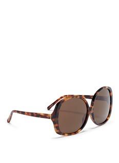 Linda Farrow Oversized tortoiseshell acetate square sunglasses
