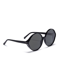 Linda Farrow 'Eden' oversized acetate round sunglasses