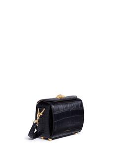 Alexander McQueen 'Box Bag 19' in croc embossed calfskin leather