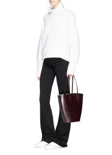 Alexander McQueen Leather basket tote