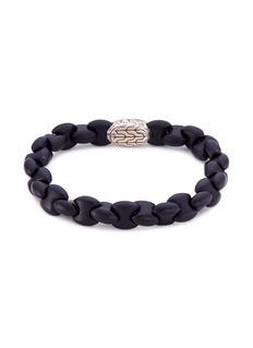 John Hardy Silver agate bead bracelet