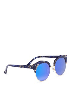 Stephane + Christian 'Flashback' acetate browline mirror sunglasses