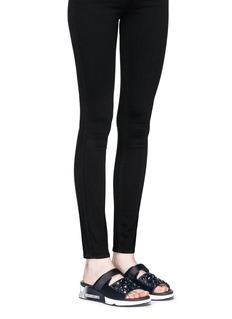 Ash'Lou' embellished satin sneaker platform slide sandals