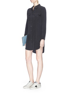 Equipment 'Slim Signature' silk crepe shirt dress
