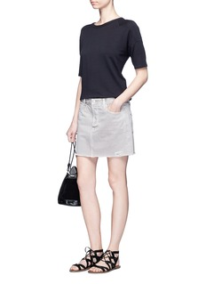 J Brand'Bonny' mid rise denim mini skirt