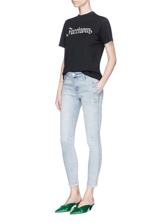 J Brand 'Zion' button side mid rise cropped skinny jeans
