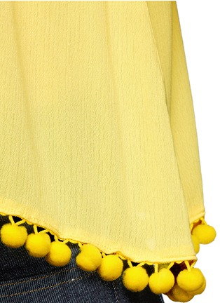 Detail View - Click To Enlarge - alice + olivia - 'Meagan' pompom off-shoulder top
