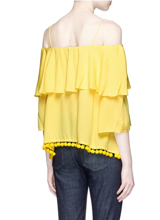 Back View - Click To Enlarge - alice + olivia - 'Meagan' pompom off-shoulder top