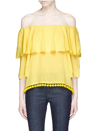 Main View - Click To Enlarge - alice + olivia - 'Meagan' pompom off-shoulder top