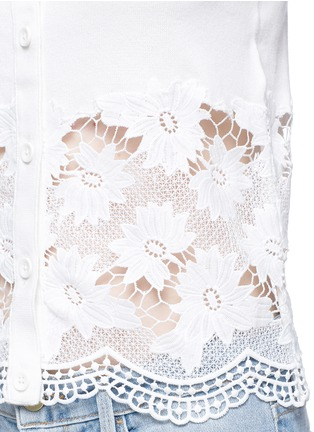 Detail View - Click To Enlarge - alice + olivia - Guipure lace panel cardigan