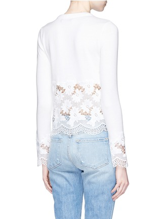 Back View - Click To Enlarge - alice + olivia - Guipure lace panel cardigan
