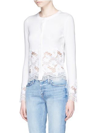 Front View - Click To Enlarge - alice + olivia - Guipure lace panel cardigan