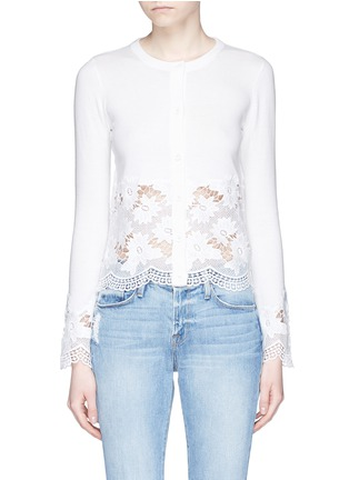 Main View - Click To Enlarge - alice + olivia - Guipure lace panel cardigan