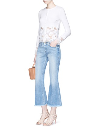 Figure View - Click To Enlarge - alice + olivia - Guipure lace panel cardigan
