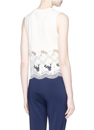 Back View - Click To Enlarge - alice + olivia - 'Somer' guipure lace panel sleeveless knit top
