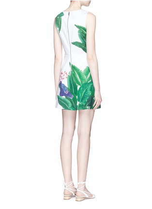 Back View - Click To Enlarge - alice + olivia - 'Malin' bird and palm tree print sleeveless dress