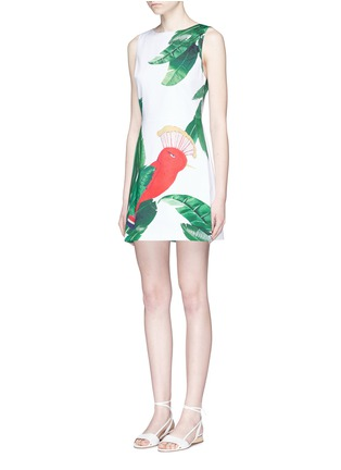 Front View - Click To Enlarge - alice + olivia - 'Malin' bird and palm tree print sleeveless dress