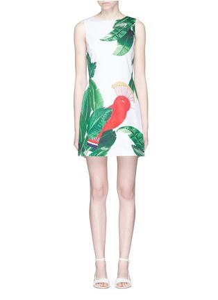 Main View - Click To Enlarge - alice + olivia - 'Malin' bird and palm tree print sleeveless dress