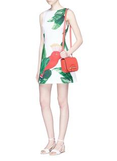 alice + olivia'Malin' bird and palm tree print sleeveless dress