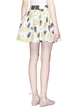 Back View - Click To Enlarge - alice + olivia - 'Fizer' pineapple jacquard pleated skirt