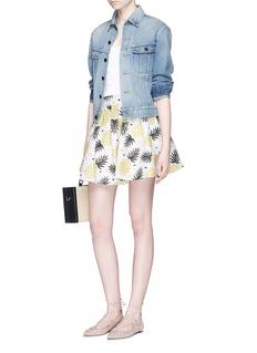 alice + olivia 'Fizer' pineapple jacquard pleated skirt