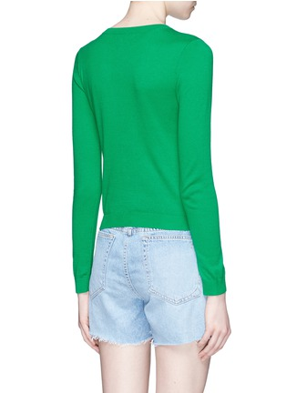Back View - Click To Enlarge - alice + olivia - 'Connie Garden' Stace Face floral embroidered sweater