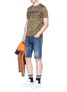 Adidas Logo print leopard jacquard T-shirt