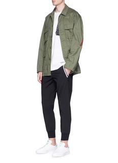 Adidas Dot print zip pocket T-shirt