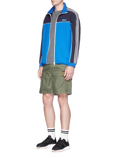 Adidas Zip pocket towelling T-shirt