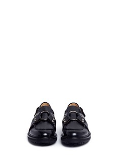 Alexander McQueen Harness leather loafers