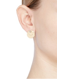 Eddie Borgo 'Pinned Paillette' bead disc stud earrings