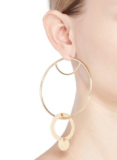 Eddie Borgo 'Nubia' gold vermeil interlocking hoop earrings