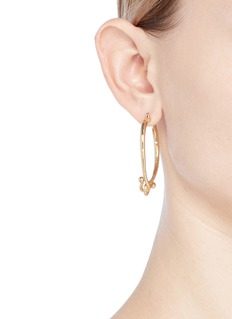 Eddie Borgo 'Thalia' interlocking hook hoop earrings