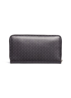 Alexander McQueen Mini skull print zip leather continental wallet
