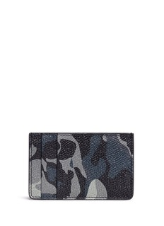 Alexander McQueen Camouflage and skull print leather card holder