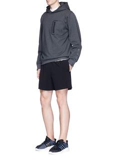 Particle Fever Reflective logo appliqué hoodie